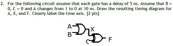 For the following circuit assume that each gate ha