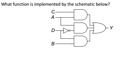 What function is implemented by the schematic belo