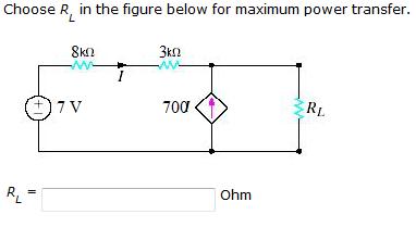 Choose RL In The Figure Below For Maximum Power Tr...   Chegg.com