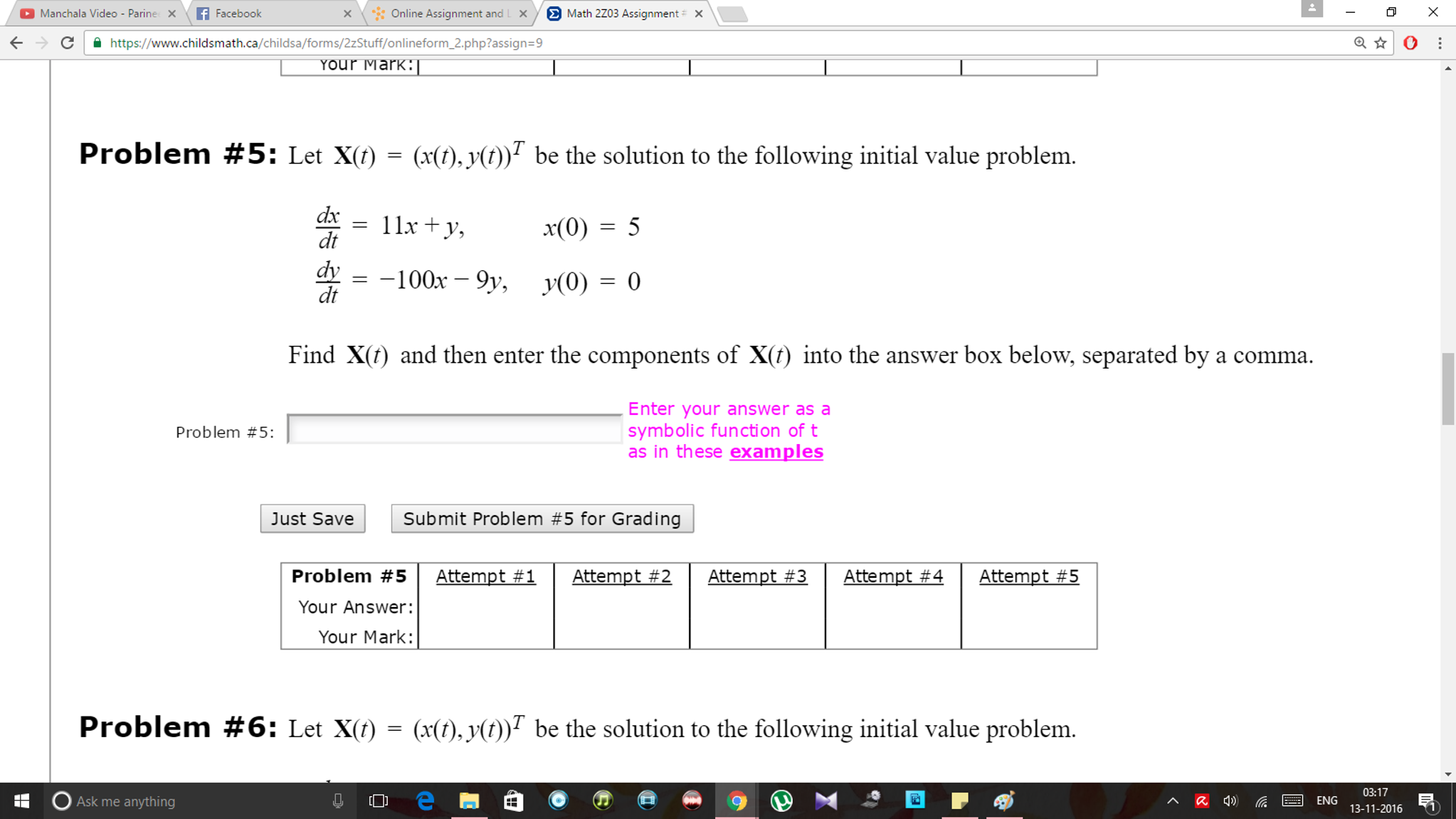 Solved: Online Assignment And L X Math 2zo3 Assignment X M ...
