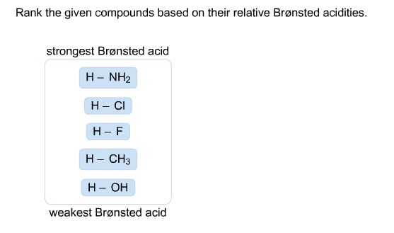 Rank The Given Compounds Based On Their Relative B... | Chegg.com