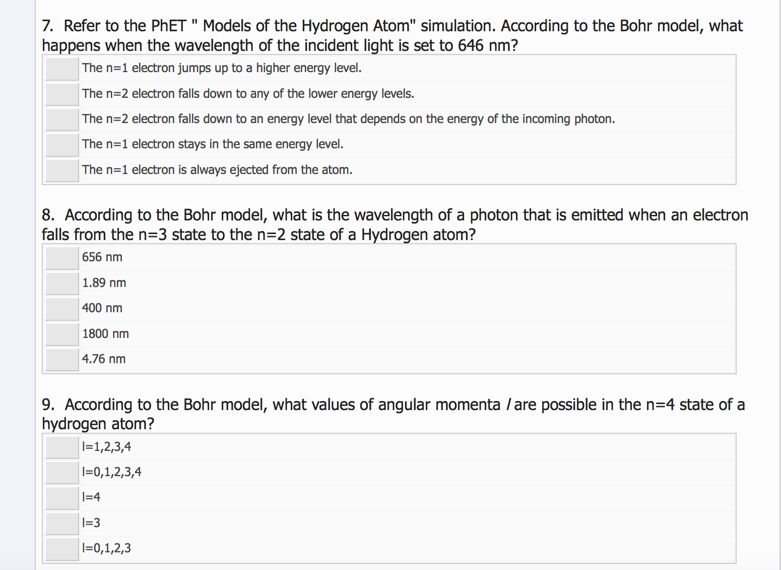 worksheet Models Of The Atom Worksheet Answers solved refer to the phet models of hydrogen atom s question simulation according bohr model what ha
