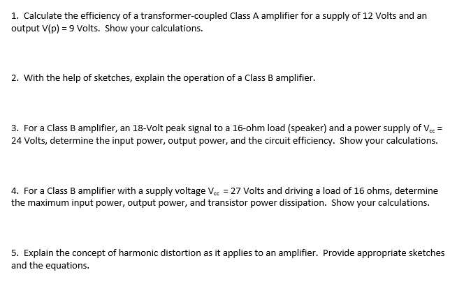 Calculate the efficiency of a transformer-coupled