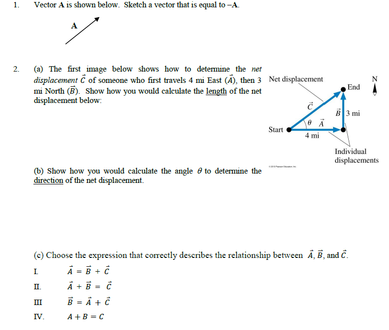 Vector A is shown below. Sketch a vector that is e