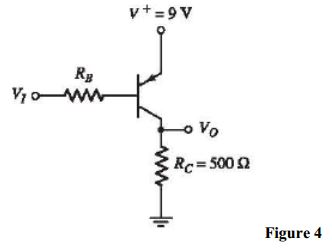 Determine RB in Figure 4 such that Vo = 8.8V when