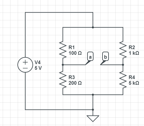 find voltage Va and Vb using nodal and find curren