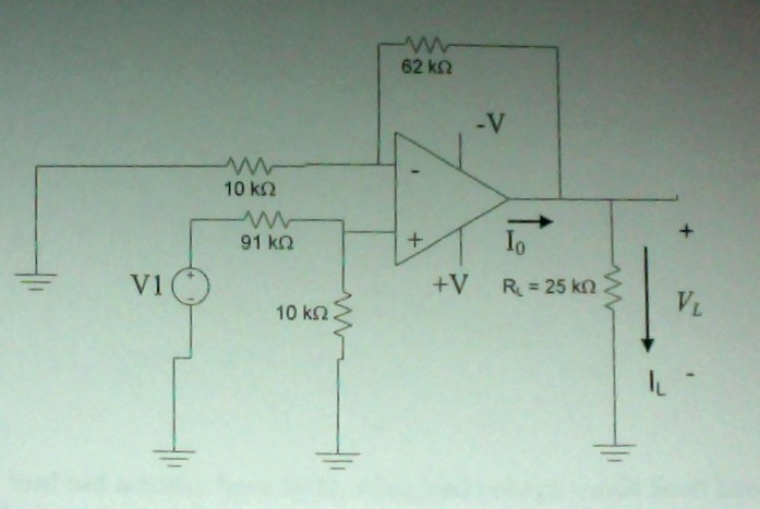The following circuit was designed for a 25 kohm l