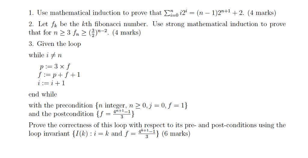 prove by mathematical induction