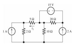 Determine the voltage at each of the essential nod