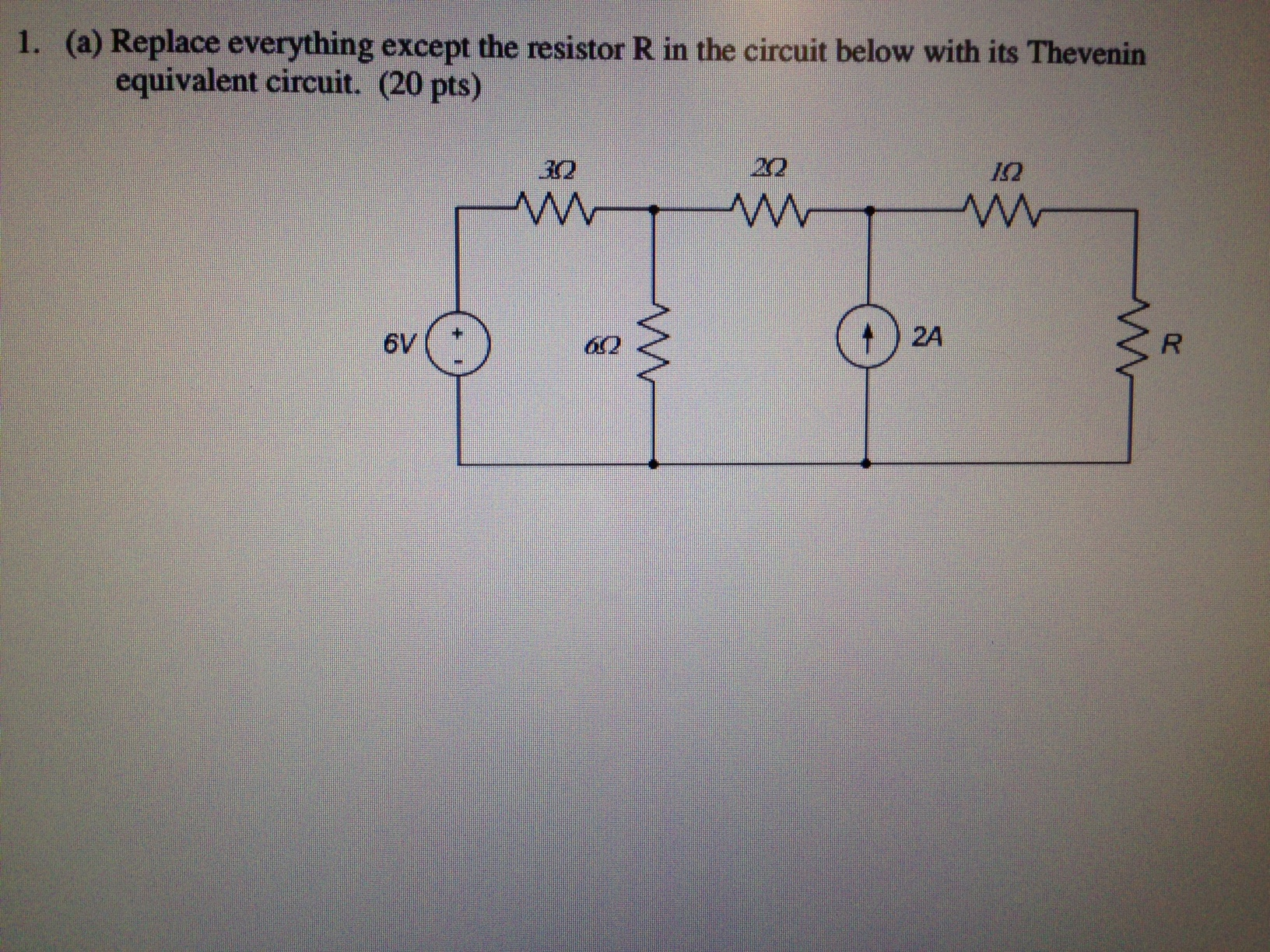 Replace everything except the resistor R in the ci