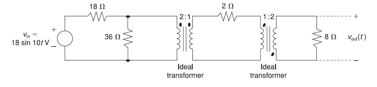 For the circuit shown in