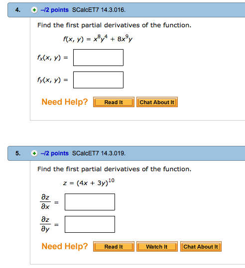 Find the first partial derivatives of the function chegg com