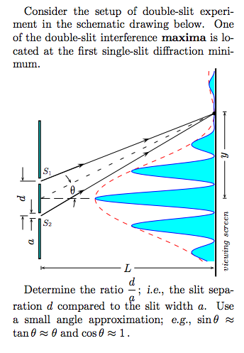 Consider the setup of double-slit experiment in th