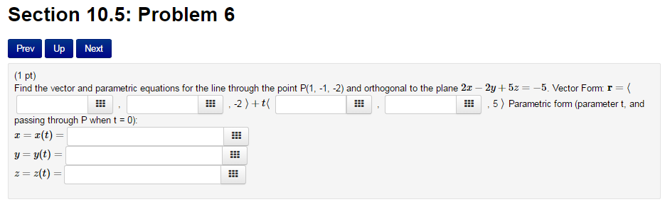 Find The Vector And Parametric Equations For The L... | Chegg.com