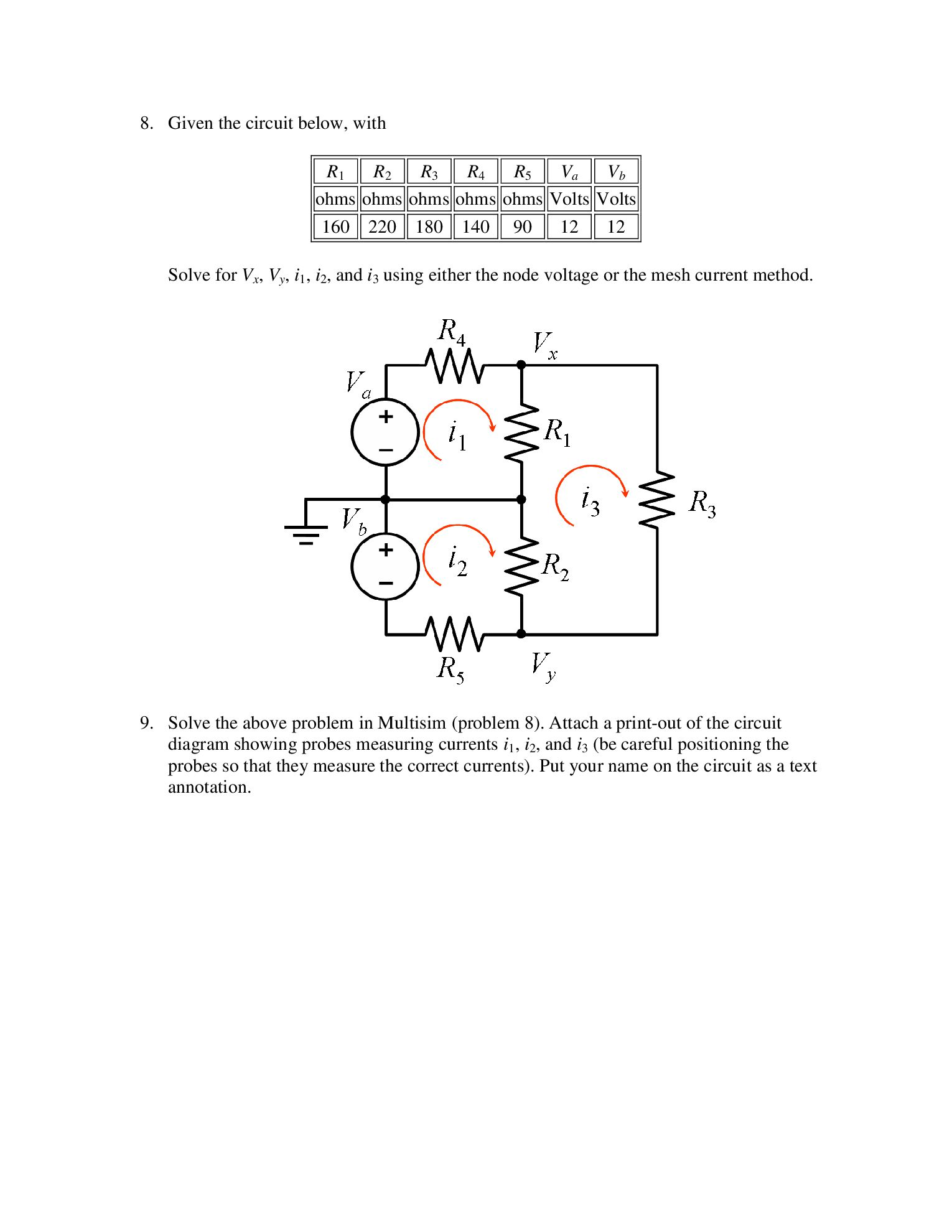 Determine the Thevenin voltage and resistance of t