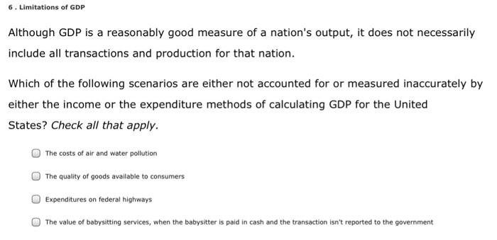 gdp is not a good measure of the welfare of a nation Brief definition: levels of gdp per capita are obtained by dividing gdp at current  market  therefore is not a good measure of the level of over-all well being.