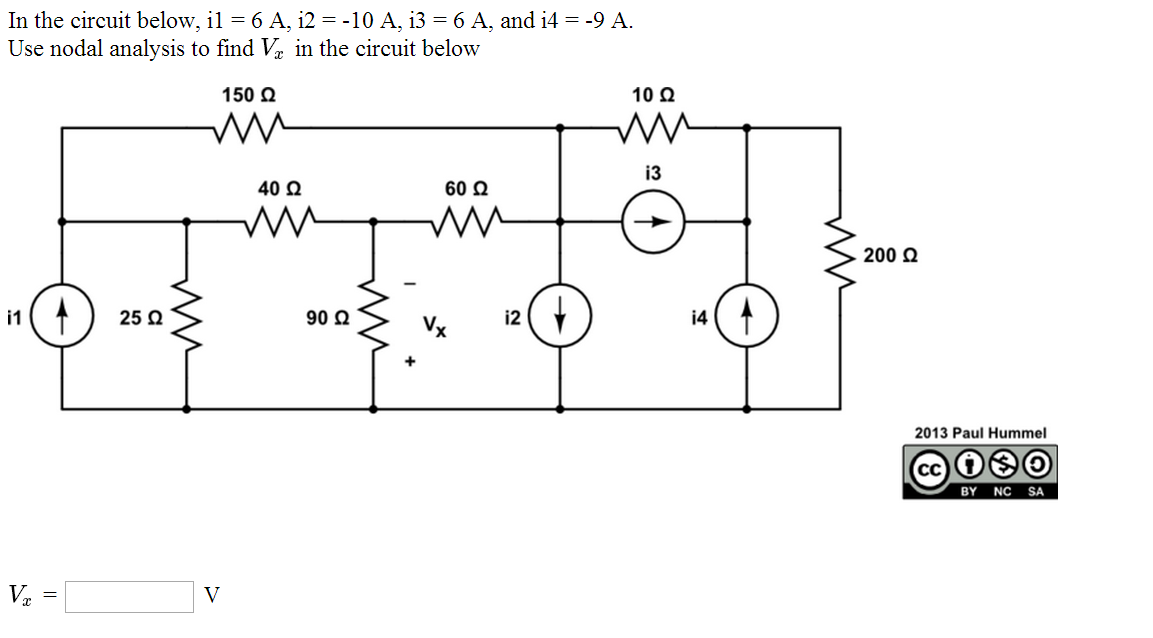 In the circuit below, il = 6 A, i2 = -10 A, i3 = 6