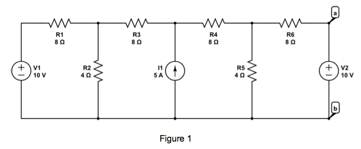 Find the Thevenin equivalent of the circuit shown