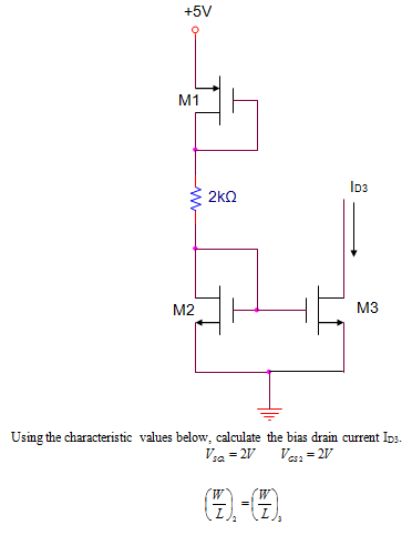 Using die characteristic values below, calculate d