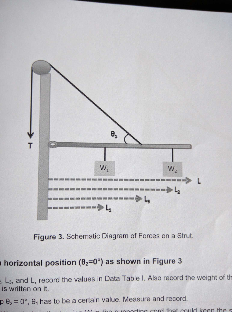 Solved free body diagrams and tension calculations i have schematic diagram of forces on a strut horizontal position ccuart Image collections
