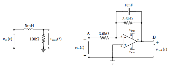 Find the output voltage for each of the systems ab