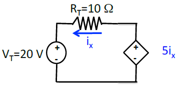 for the circuit shown in below, solve for the curr