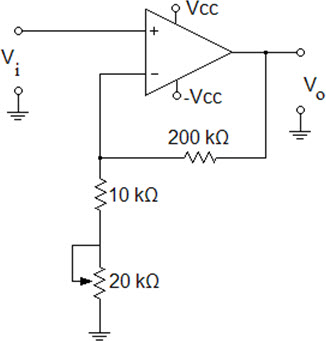 What is the range of the voltage-gain adjustment i
