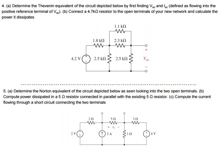 how to find thevenin equivalent of a circuit