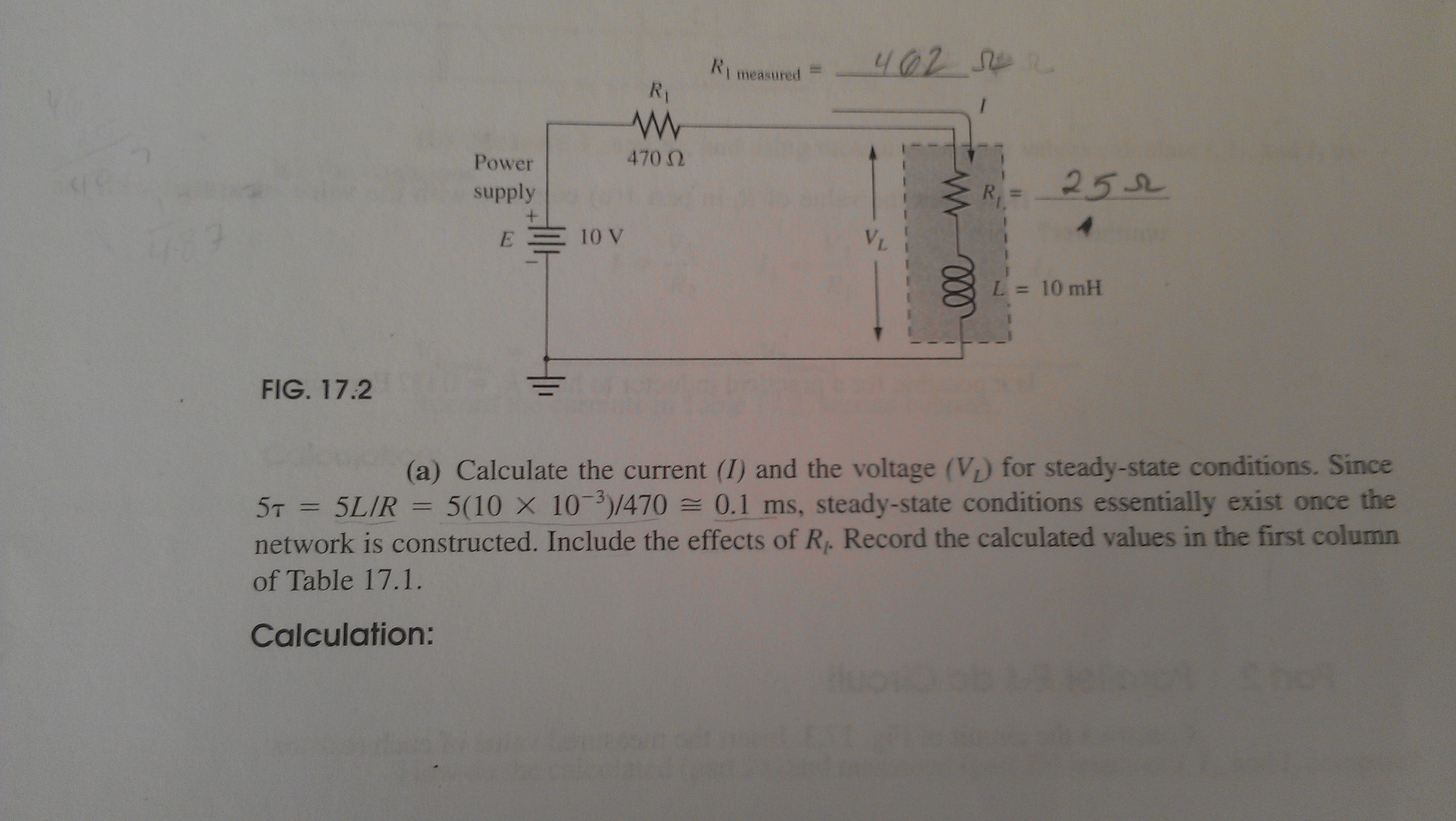 FIG. 17.2 Calculate the current (I) and the vol