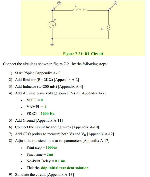Connect the circuit as shown in figure 7-21 by t
