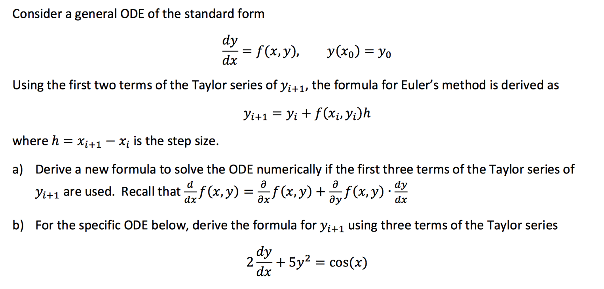 Solved consider a general ode of the standard form dydx consider a general ode of the standard form dydx falaconquin