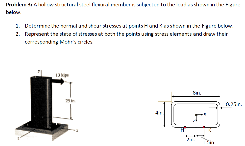Solved a hollow structural steel flexural member is subje