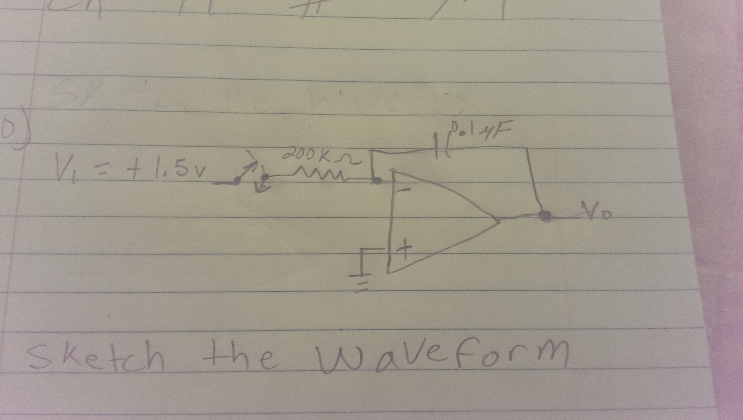 Sketch the wave form