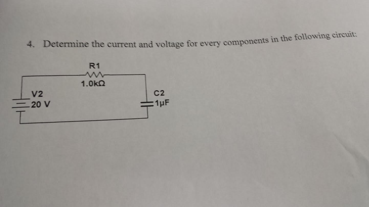 Determine the current and voltage for every compon