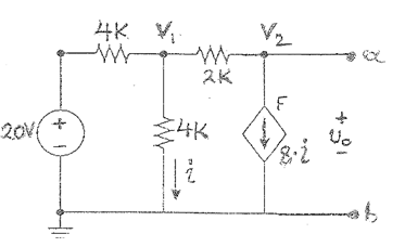For the following circuit, determine by INSPECTION