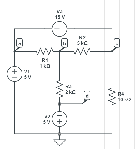 find voltage Vb  and Vc&n