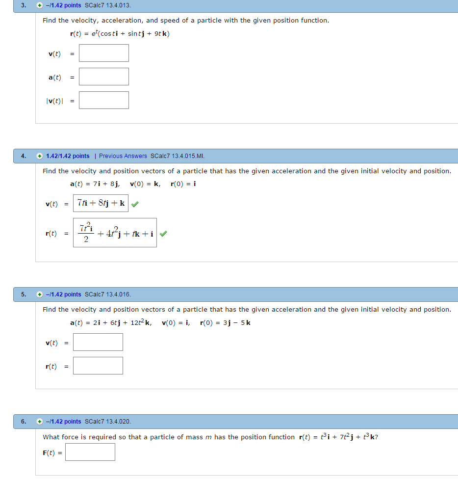 solved find the velocity acceleration and speed of a pa