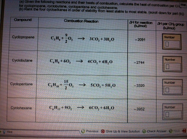 list of heats of combustion at An investigation to determine the effect of an increase in molar mass on the the temperature change of the liquid is then related to the heat of combustion.