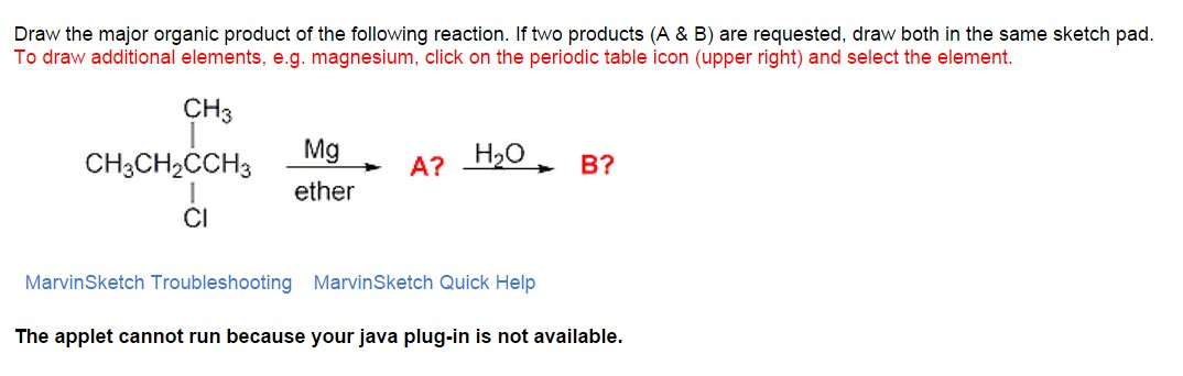 Solved draw the major organic product of the following re image for draw the major organic product of the following reaction if two products urtaz Images