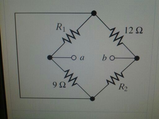 Given R1=18 OHMs and R2=8 OHMs Find the equivalen