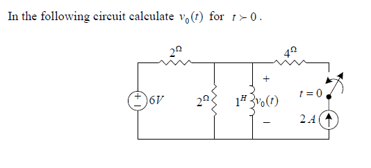 In the following circuit calculate v0(f) for r-0