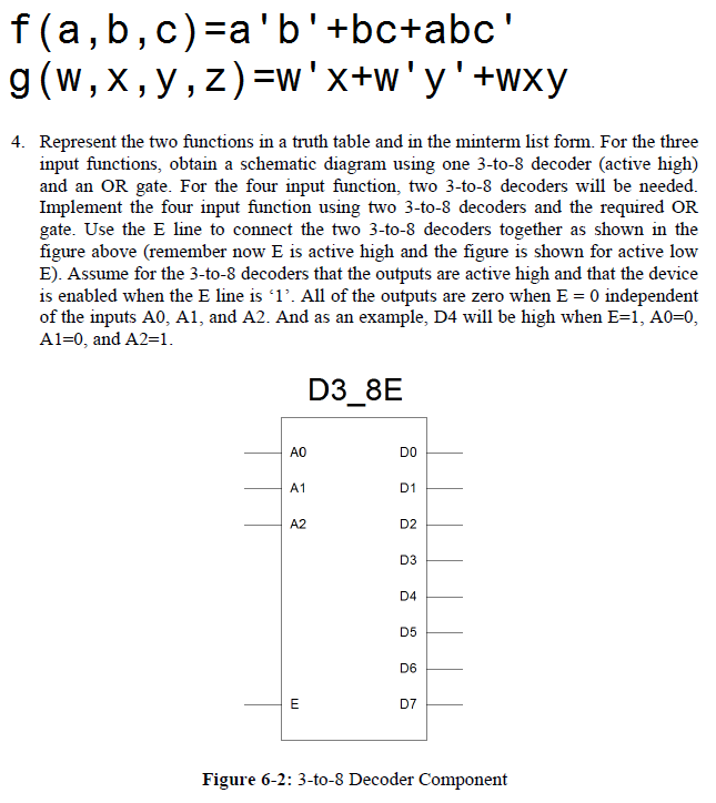 Cascaded Decoders f(a, b, c) = a'b' + bc + abc'