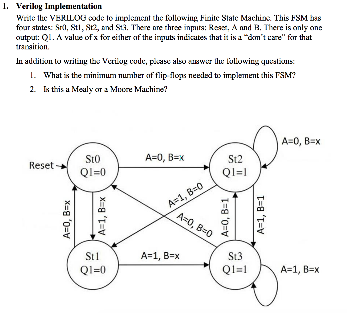 Solved 1 verilog implementation write the verilog code t expert answer ccuart Image collections