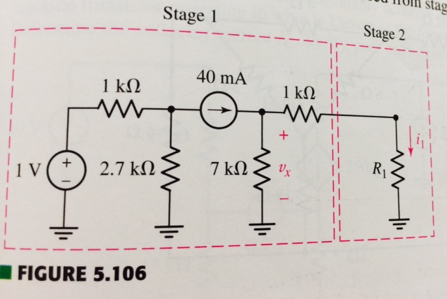 The circuit shown in Fig 5.106 depicts a circuit s