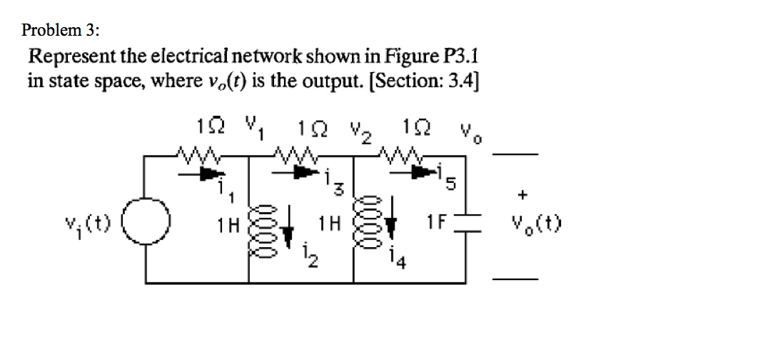 Represent the electrical network shown in Figure P