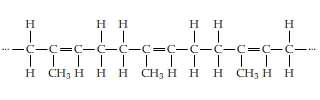 Draw the monomer used to make the following polyme