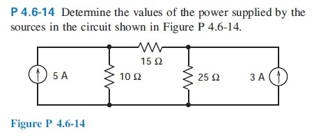 Determine the values of the power supplied by the