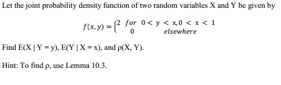 how to find joint probability density function