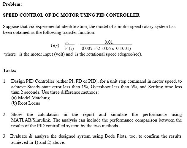 speed control of dc motor using pid controller thesis Speed control of dc motor using pid controller  this thesis is  submitted as partial fulfillment of the requirements for the award.