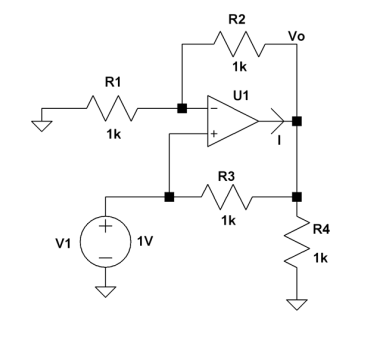 Assuming an ideal op-amp, find